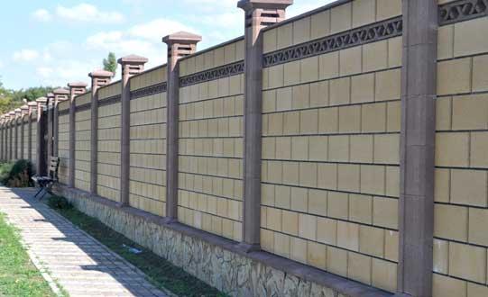 Построить забор из французского камня в Симферополе.